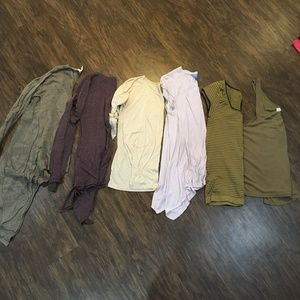 Loungey Earth Tones Tops Bundle (Free People)